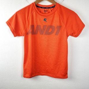 And1 | Boys Orange Basic Tee Shirt Large 10/12